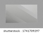 set of transparent shiny glass... | Shutterstock .eps vector #1741709297