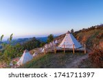 Canvas Bell Tents On Top Of...