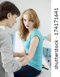dermatology consultation woman | Shutterstock . vector #174171641