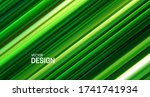 fresh green layered surface.... | Shutterstock .eps vector #1741741934