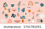 collection of handwritten... | Shutterstock .eps vector #1741781051
