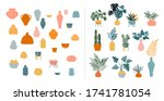 collection of stickers and... | Shutterstock .eps vector #1741781054