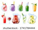 summer tropical beverages...   Shutterstock .eps vector #1741784444