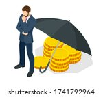 saving and protection money... | Shutterstock .eps vector #1741792964