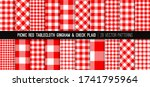 red gingham and tartan check... | Shutterstock .eps vector #1741795964