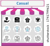 new trend casual icon set....   Shutterstock .eps vector #1741799621