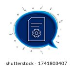 document management line icon....