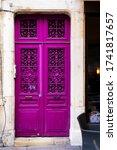 Bright Purple Old Rustic...