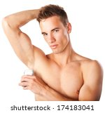 close up image of a young sexy... | Shutterstock . vector #174183041