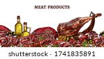 meat farm food background with... | Shutterstock .eps vector #1741835891