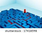 solved maze | Shutterstock .eps vector #17418598