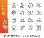 airport vector line icons. air...   Shutterstock .eps vector #1741860611