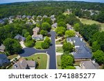 Aerial View Of An Upscale...