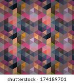 triangle pattern  background ... | Shutterstock . vector #174189701