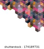 triangle pattern  background ... | Shutterstock . vector #174189731