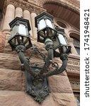 Street Lamp On Old City Hall...