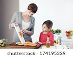 mother   child | Shutterstock . vector #174195239