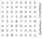 stroke line icons set of...   Shutterstock .eps vector #1741970924