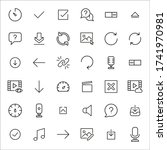 stroke line icons set of...
