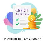 credit loan application form... | Shutterstock .eps vector #1741988147