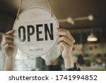 Open. Barista  Waitress Woman...