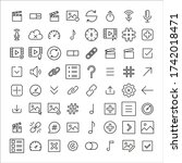 sign line icons set. stroke...