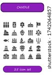 candle icon set. 25 filled... | Shutterstock .eps vector #1742064857