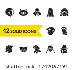 avatar icons set with boy in...