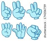 cartoon illustration of hand... | Shutterstock . vector #174206759
