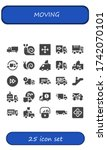 moving icon set. 25 filled... | Shutterstock .eps vector #1742070101