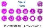 editable 14 walk icons for web...   Shutterstock .eps vector #1742091344