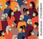 novel 2019 ncov coronavirus in... | Shutterstock .eps vector #1742108444