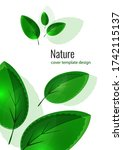 fresh bright green leaves....   Shutterstock .eps vector #1742115137