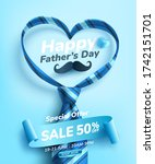 father's day sale poster or... | Shutterstock .eps vector #1742151701