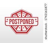 postponed sign illustration on... | Shutterstock .eps vector #1742161877