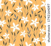 hand drawn decorative floral... | Shutterstock .eps vector #1742164097
