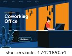 coworking office isometric...
