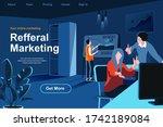 referral marketing flat...