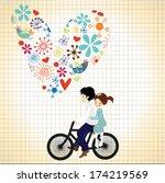 happy valentines day... | Shutterstock .eps vector #174219569