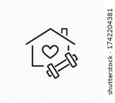 workout at home icon isolated... | Shutterstock .eps vector #1742204381