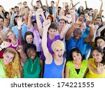 large group of people... | Shutterstock . vector #174221555