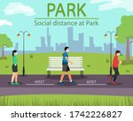 social distance in new normal... | Shutterstock .eps vector #1742226827