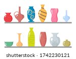 Colored Ceramic Vases Objects ...