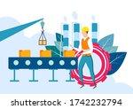 easy to edit vector... | Shutterstock .eps vector #1742232794