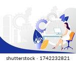 easy to edit vector... | Shutterstock .eps vector #1742232821
