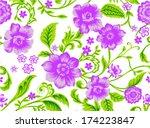 seamless design of  flowers.... | Shutterstock .eps vector #174223847