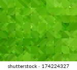 Abstract Green Triangle...