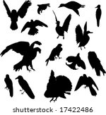 illustration with nine bird... | Shutterstock .eps vector #17422486