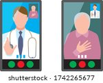 doctors and patients who...   Shutterstock .eps vector #1742265677