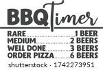 bbq timer   funny barbecue... | Shutterstock .eps vector #1742273951